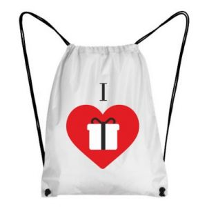 Backpack-bag I love presents