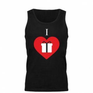Męska koszulka I love presents