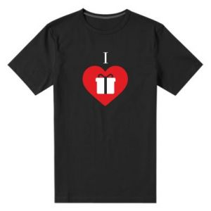 Męska premium koszulka I love presents