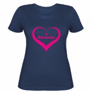 Women's t-shirt I love Szczecin