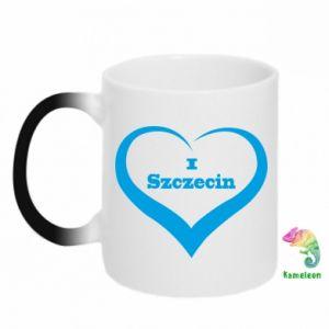 Chameleon mugs I love Szczecin