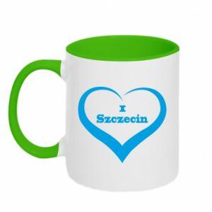 Two-toned mug I love Szczecin