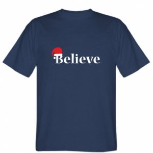 T-shirt Believe in a hat