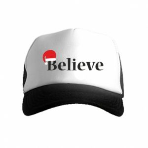 Kid's Trucker Hat Believe in a hat