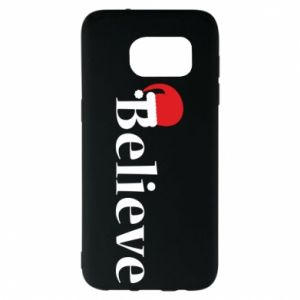 Samsung S7 EDGE Case Believe in a hat