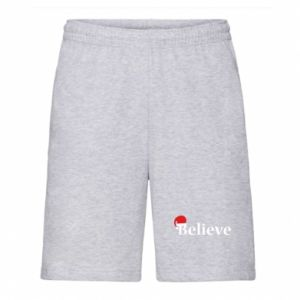 Men's shorts Believe in a hat