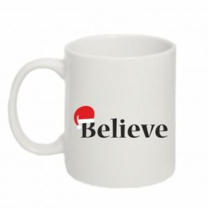 Mug 330ml Believe in a hat