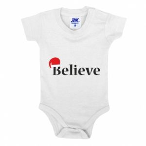 Baby bodysuit Believe in a hat