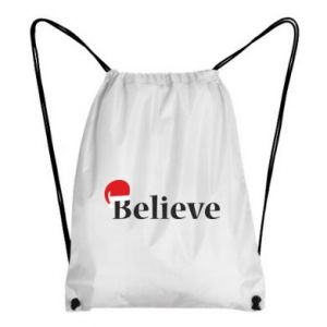 Backpack-bag Believe in a hat