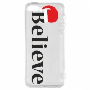 iPhone 5/5S/SE Case Believe in a hat