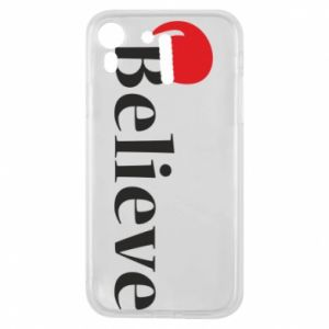 iPhone XR Case Believe in a hat