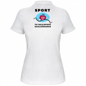 Koszulka polo damska Uzależnienie