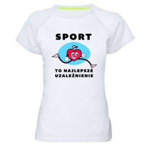 Damska koszulka sportowa Uzależnienie