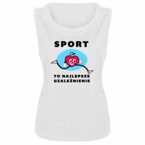 Damska koszulka bez rękawów Uzależnienie