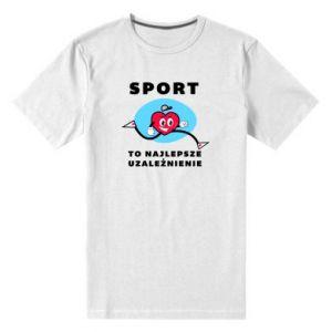 Męska premium koszulka Uzależnienie