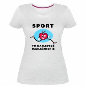 Damska premium koszulka Uzależnienie