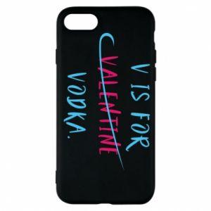 Etui na iPhone 7 V is for vodka.