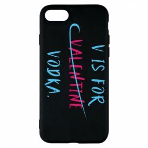 Etui na iPhone 8 V is for vodka.