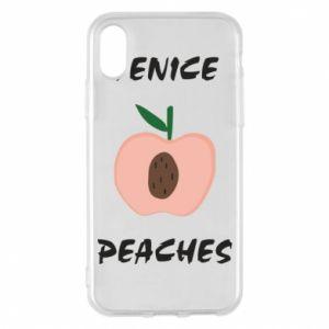 Etui na iPhone X/Xs Venice peaches