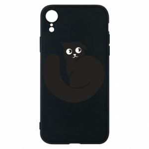 Phone case for iPhone XR Very black cat is watching you - PrintSalon