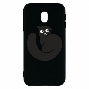 Phone case for Samsung J3 2017 Very black cat is watching you - PrintSalon