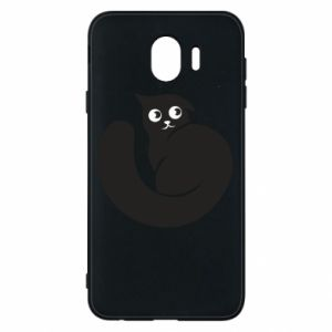 Phone case for Samsung J4 Very black cat is watching you - PrintSalon