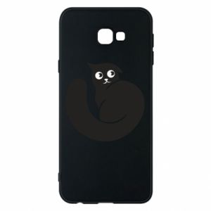 Phone case for Samsung J4 Plus 2018 Very black cat is watching you - PrintSalon