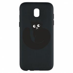 Phone case for Samsung J5 2017 Very black cat is watching you - PrintSalon