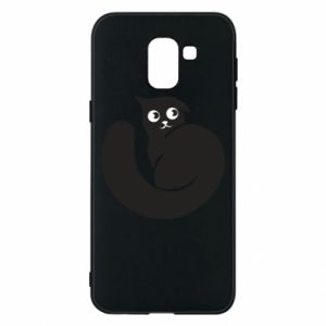 Phone case for Samsung J6 Very black cat is watching you - PrintSalon