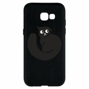 Phone case for Samsung A5 2017 Very black cat is watching you - PrintSalon