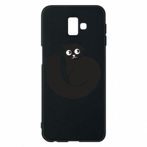 Phone case for Samsung J6 Plus 2018 Very black cat is watching you - PrintSalon