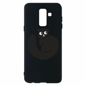 Phone case for Samsung A6+ 2018 Very black cat is watching you - PrintSalon