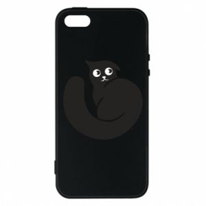 Phone case for iPhone 5/5S/SE Very black cat is watching you - PrintSalon