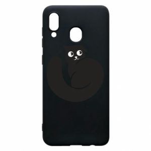Phone case for Samsung A20 Very black cat is watching you - PrintSalon