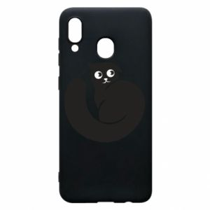 Phone case for Samsung A30 Very black cat is watching you - PrintSalon