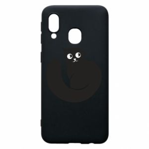 Phone case for Samsung A40 Very black cat is watching you - PrintSalon