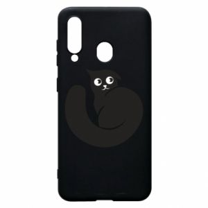 Phone case for Samsung A60 Very black cat is watching you - PrintSalon