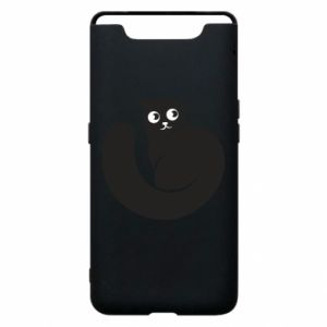 Phone case for Samsung A80 Very black cat is watching you - PrintSalon