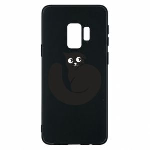 Phone case for Samsung S9 Very black cat is watching you - PrintSalon