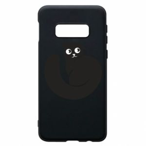 Phone case for Samsung S10e Very black cat is watching you - PrintSalon