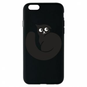 Phone case for iPhone 6/6S Very black cat is watching you - PrintSalon