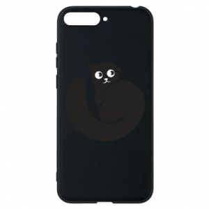 Phone case for Huawei Y6 2018 Very black cat is watching you - PrintSalon