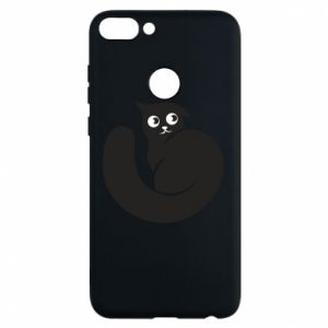 Phone case for Huawei P Smart Very black cat is watching you - PrintSalon