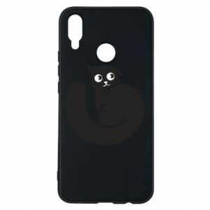 Phone case for Huawei P Smart Plus Very black cat is watching you - PrintSalon