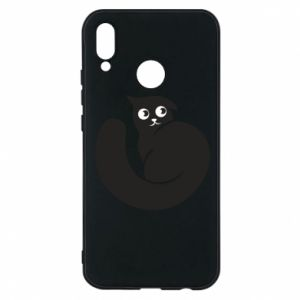 Phone case for Huawei P20 Lite Very black cat is watching you - PrintSalon