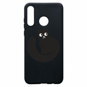 Phone case for Huawei P30 Lite Very black cat is watching you - PrintSalon
