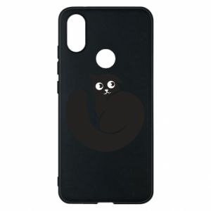 Phone case for Xiaomi Mi A2 Very black cat is watching you - PrintSalon