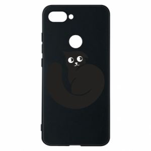 Phone case for Xiaomi Mi8 Lite Very black cat is watching you - PrintSalon