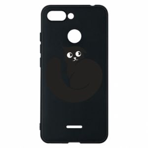 Phone case for Xiaomi Redmi 6 Very black cat is watching you - PrintSalon