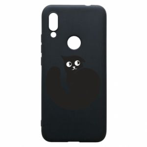 Phone case for Xiaomi Redmi 7 Very black cat is watching you - PrintSalon